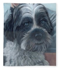 Portrait Of Charley Fleece Blanket