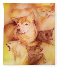 Portrait Of Chi Chi Fleece Blanket
