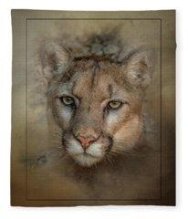 Portrait Of Cruz Fleece Blanket