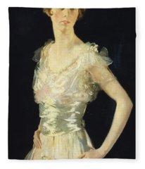 Portrait Of Gardenia Fleece Blanket