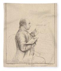 Portrait Of George Stubbs By James Bretherton Fleece Blanket