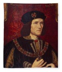 Portrait Of King Richard IIi Fleece Blanket