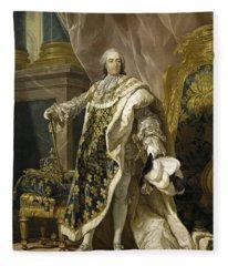 Portrait Of Louis Xv Of France Fleece Blanket