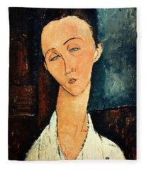 Portrait Of Lunia Czechowska Fleece Blanket