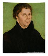Portrait Of Martin Luther Fleece Blanket