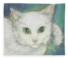 Portrait Of Misty Fleece Blanket