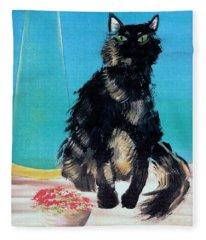 Portrait Of Muffin Fleece Blanket