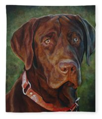 Portrait Of Remington 0094_2 Fleece Blanket