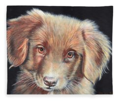 Portrait Of Toby Fleece Blanket