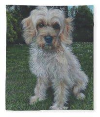 Portrait Of Toffee Fleece Blanket
