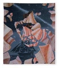 Portrait Of Vladimir Vysotsky Fleece Blanket