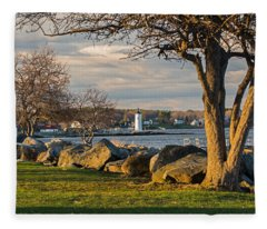 Portsmouth Harbor Light At New Castle Commons Fleece Blanket