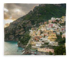 Positano Sunset Fleece Blanket