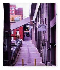 Post Alley, Seattle Fleece Blanket