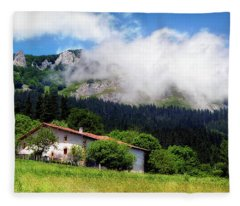 Postcard From Basque Country Fleece Blanket