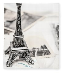 Postcards And Letters From Paris Fleece Blanket