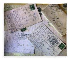Postcards And Proposals Fleece Blanket