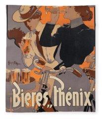 Poster Advertising Phenix Beer Fleece Blanket