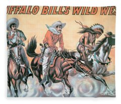 Poster For Buffalo Bill's Wild West Show Fleece Blanket
