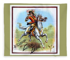Poster W.t. Carleton As Claude Duval 1882 Fleece Blanket