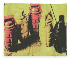 Posterized Granade Art Fleece Blanket