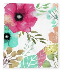 Posy Fleece Blanket