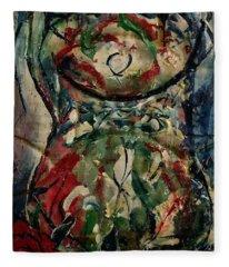 Potpourri Vase With Rose Fleece Blanket
