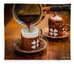 Poured Turkish Coffee Fleece Blanket