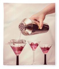 Pouring Cocktails Fleece Blanket