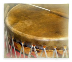 Pow-wow Drum Fleece Blanket