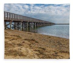 Powder Point Bridge Fleece Blanket