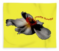 Power Flower Anemone Fleece Blanket