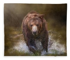 Power Of The Grizzly Fleece Blanket
