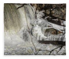 Power Station Falls On Black River  Fleece Blanket