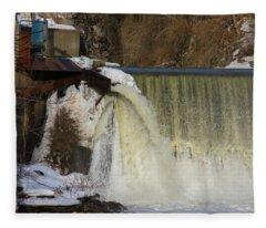 Power Station Falls On Black River One Fleece Blanket