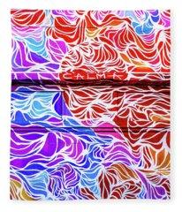 Power Waves Fleece Blanket