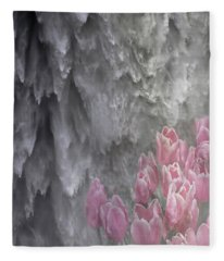 Powerful And Gentle Waterfall Art  Fleece Blanket