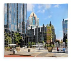 Plaza At Ppg Place Fleece Blanket