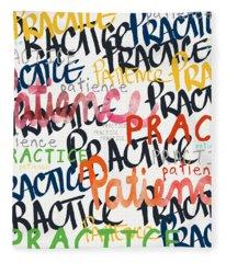 Practice Patience- Art By Linda Woods Fleece Blanket