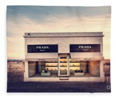 Fleece Blanket featuring the photograph Prada Store by Prada