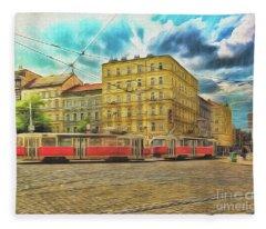 Prague Fleece Blanket