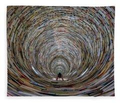 Prague Library Book Tower Fleece Blanket