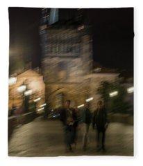 Fleece Blanket featuring the photograph Prague Nights by Alex Lapidus