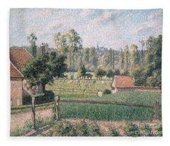 Prairie At Eragny, 1889 Fleece Blanket