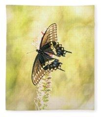 Prairie Butterfly 2 Fleece Blanket