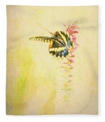 Prairie Butterfly 3 Fleece Blanket