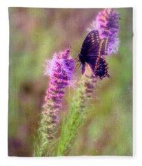 Prairie Butterfly Fleece Blanket