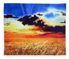 Prairie Gold Fleece Blanket