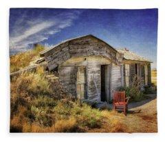 Prairie Homestead In South Dakota Fleece Blanket