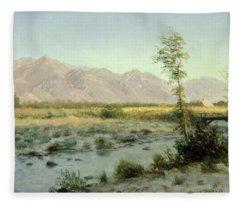 Prairie Landscape Fleece Blanket